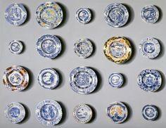 'OBSESSIVE' Lisa Milroy 'plates' 1992