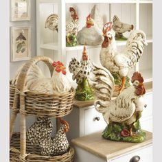 Rooster Lamps for Kitchen | ceramic rooster sculpture | ceramic cockerel | white ceramic rooster ...