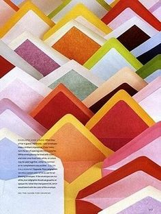 Envelopes, color