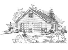 Eplans Garage Plan - A Premium Plan Presented By Home Planners - 278 Square Feet and 0 Bedrooms from Eplans - House Plan Code HWEPL68825