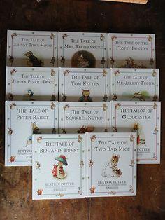 BEATRIX POTTER Set 11 Hardcover Books Hardcovers Lot Peter Rabbit Nursery Kids $24.99