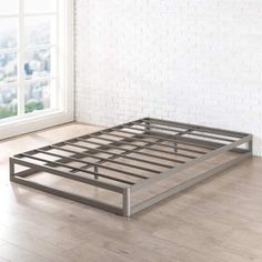 Best Price Mattress King Bed Frame, Metal Platform Bed Frame w/Heavy Duty Steel Slat Mattress Foundation (No Box Spring Needed), King Size Welded Furniture, Steel Furniture, Bed Furniture, Furniture Design, Furniture Movers, Cheap Furniture, Rustic Furniture, Furniture Makeover, Office Furniture