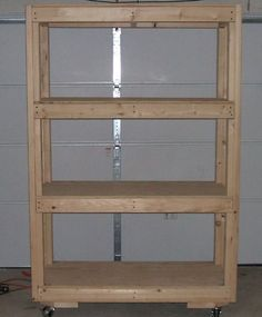 Simple and mobile diy garage shelves with plywood   Home Interiors
