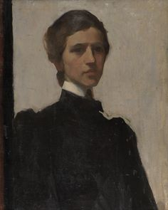 Self Portrait, The Artist in Mourning for her Father, 1900 by Violet Oakley on Curiator, the world's biggest collaborative art collection. Self Portrait Artists, Portrait Images, Portrait Paintings, Romaine Brooks, Whistler, Rose Girl, Selfies, Social Art, Digital Museum