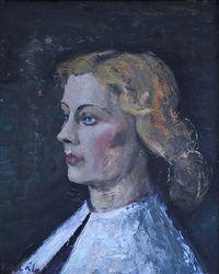 Womans portrait by Frantisek Kalab