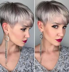 30 Ways to Rock a Pixie Cut with Fine Hair: Easy Short Hairstyles, Today's topic is 30 Ways to Rock a Pixie Cut with Fine Hair: Easy Short Hairstyles. Having fine hair does not mean that there is very few choices hair. Thin Hair Haircuts, Short Hairstyles For Women, Trendy Hairstyles, Straight Hairstyles, Bob Haircuts, Celebrity Haircuts, Layered Hairstyles, Short Grey Hair, Short Hair Cuts