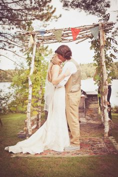 I love that arbor! Backyard Wedding by Chattman Photography  Read more - http://www.stylemepretty.com/massachusetts-weddings/2012/03/29/backyard-wedding-by-chattman-photography/