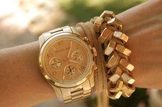 hex nut & leather bracelet
