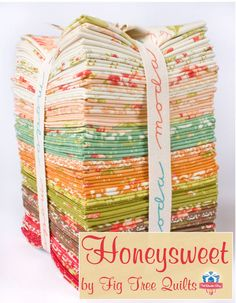 Honeysweet by Fig Tree Quilts for Moda Fabrics has arrived.  These soft and sweet prints are instant favorites.