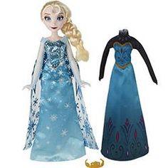 BRINQUEDOS Boneca Frozen Vestidos Reais Elsa - Hasbro