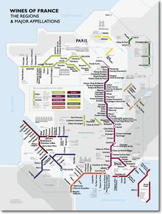 Very cool poster of the French wine regions shown in a subway map style.