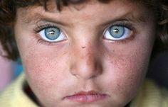 Blue Eye Afghan Pashtun Pathan Kid Kabul by Pokhton, via Flickr