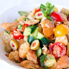 The view from Great Island: Panzanella Salad | saladas | Pinterest ...