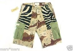 $70 Mens RALPH LAUREN Denim & Supply Cargo Slim Shorts 33 WAIST 'Military Zebra