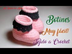 Escarpines o botitas para bebe paso a paso a crochet - Mi rincón del tejido - YouTube