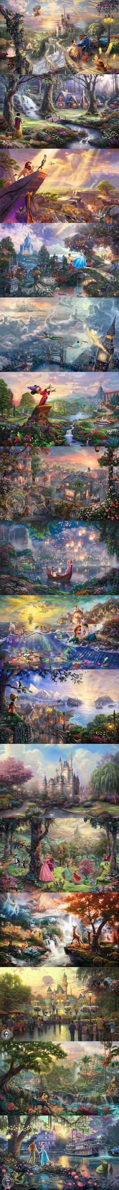 Disney Dreams Collection By Thomas Kinkade. I love Disney and I love Thomas Kinkade so this is the perfect combinations. Disney Pixar, Walt Disney, Cute Disney, Disney And Dreamworks, Disney Magic, Disney Art, Disney Movies, Disney Stuff, Bambi Disney