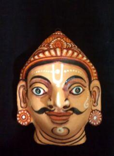 A pattachitra papier mache mask oh Sahadev the by PattachitraNet