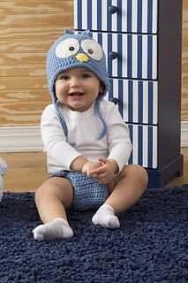 Crochet this cute set and baby will have the perfect outfit for his or her next photo op. This sweet bluebird of happiness will warm your heart!