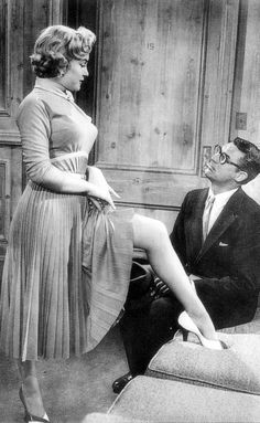 Marilyn Monroe and Cary Grant in Monkey Business,...