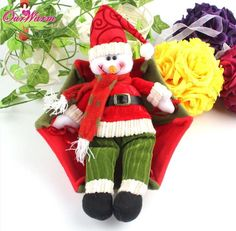4pcs Christmas Decoration Supplies Tree Hanging Ornament Decorations Santa Claus Snowman Gifts For The