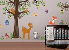 Project Nursery - Forest Friends Wall Decals from Evgie