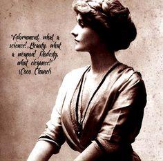 Coco Chanel's Fashion statement