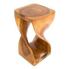 Twisted side Table/Stool/Solid Acacia Wood