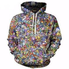 051a75b823a PLstar Cosmos 2017 New Fashion Hoodies Classic cartoon Pokemon Video Game  And Anime Print Sweatshirts Men Women Pullovers