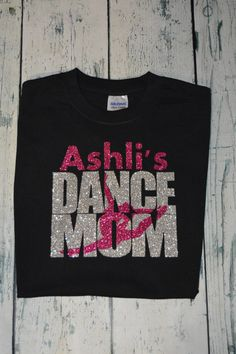 Gloria's Dance Fan! This is a perfect shirt for the dance mom personalized with your childs name. Design is professionally heat pressed and is machine washable and Dance Hip Hop, Dance Team Gifts, Cheer Dance, Dance Aesthetic, Dance Mom Shirts, Dance Gear, Dancing Dolls, Cheer Mom, Cheer Coaches
