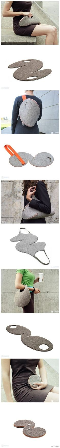 Convertible multi-size bag/purse. How cool would this be for traveling?!?! by Mariya pp