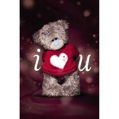 3D Holographic I Love U Me to You Valentine