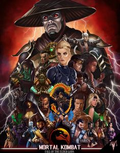 Here is my first piece of the year. It was actually a piece I was working on before the . Mortal Kombat The Fall Of The Elder Gods Mortal Kombat Legacy, Mortal Kombat Comics, Raiden Mortal Kombat, Mortal Kombat Games, Mortal Kombat X Wallpapers, Valhalla, Claude Van Damme, Deadpool Art, Silver The Hedgehog