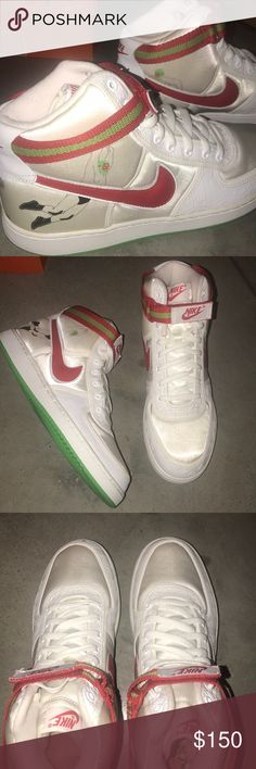 Nike Vandal high Luche Libre Pack 12 unworn luche libre pack no box size 12  red white green bean No markings. ❌ NEW. NO BOX. ❌ Nike Air Force 1 Lucha  ... 9de31c042ae4f