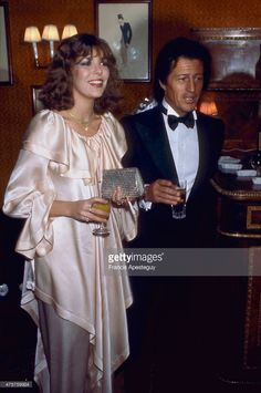 Paris 24 January 1978 Princess Caroline of Monaco attends a dinner at Maxim's in Paris given by the French High Fashion Association. She is accompanied by her fiance Philippe Junot who would become her first husband. Princess Alexandra, Princess Stephanie, 1977 Fashion, High Fashion, Grace Kelly, Philippe Junot, Christian Dior, Ernst August, Kelly Monaco