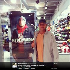 Look who Stammer found in the mall Hockey Teams, Hockey Players, Ice Hockey, Rugby Girls, Steven Stamkos, Hockey Boards, Tampa Bay Lightning, Win Or Lose, Good Buddy