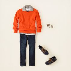 boy - outfits - layer player - orange you cool | Children's Clothing | Kids Clothes | The Children's Place