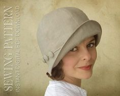 SEWING PATTERN Eleanor 1920s 1930s Twenties Cloche Hat for