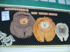 Goldilocks display demonstrating cutting skills Goldilocks And The Three Bears, Teaching English, Resolutions, Back To School, Fairy Tales, Craft Projects, Walking, Teacher, Display