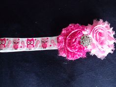 Support the breast cancer awarness cause by wearing this elligant piece! Check out this item in my Etsy shop https://www.etsy.com/listing/209463917/breast-cancer-awareness-owl-headband
