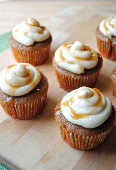 Apple Cider Cupcakes with Salted Caramel Buttercream - you need these! Perfect Fall flavor dessert!