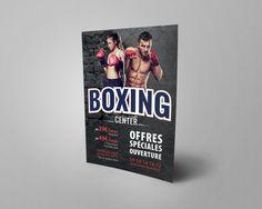 Affiche Boxing Center  #Affiche #Print #Creation
