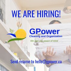 Our rapidly growing cleaning company is looking for a cleaner that can handle some dirty work. We currently focus on residential cleaning , but we would like to expand our home cleaning catalog. The ideal candidate will be passionate about creating a welcoming environment through good hygiene. Email all resumes to hello@gpower.ca Hotel Cleaning, Cleaning Companies, Hotel Housekeeping, Criminal Background Check, Residential Cleaning, Check Email, Excellent Customer Service, We Are Hiring, Love To Meet