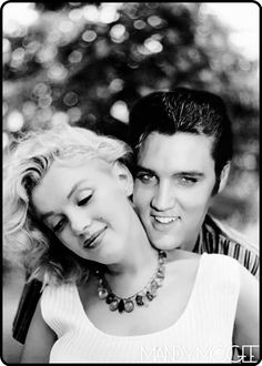 #Marilyn_Monroe & #Elvis  Haven't seen so much awesomeness in one photo for a long time!