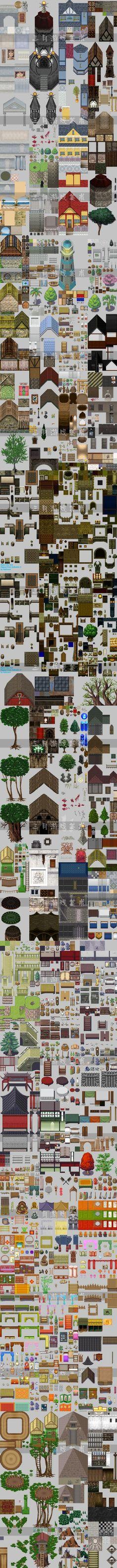 游戏美术素材像素风格场景修图素材合集 1...