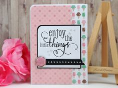 Enjoy the Little Things : carte gourmande / Sweet card