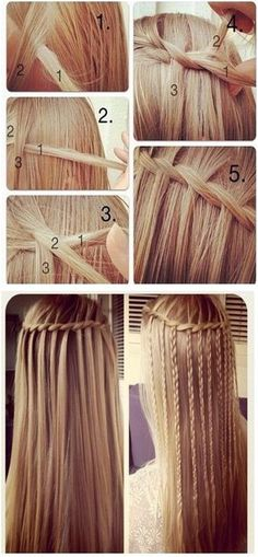 How to Do Waterfall Braid Step by Step, minus the last one