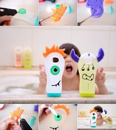 Monster Pencil and Pen Organizers Madame Criativa Blog has shared a cute project of making shampoo bottle monster organizers for your kids' pencils and pens. Cute Owls Image via: Pyssel Bolaget Cute Small Purses Rolf at We Upcycle has shared a way of using the bottom part of a shampoo bottle as a small purse
