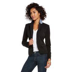 Women's Bi-Stretch Twill Blazer Ebony 2 - Merona