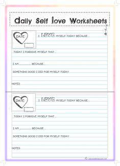 Are you looking for self care ideas? Then these Self Love worksheets can help!