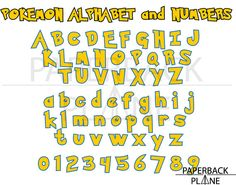 pokemon go alphabet, letter, numbers SVG, PNG, DXF cut files for cricut, silhouette cameo, t shirt design, stencil template, vinyl decal